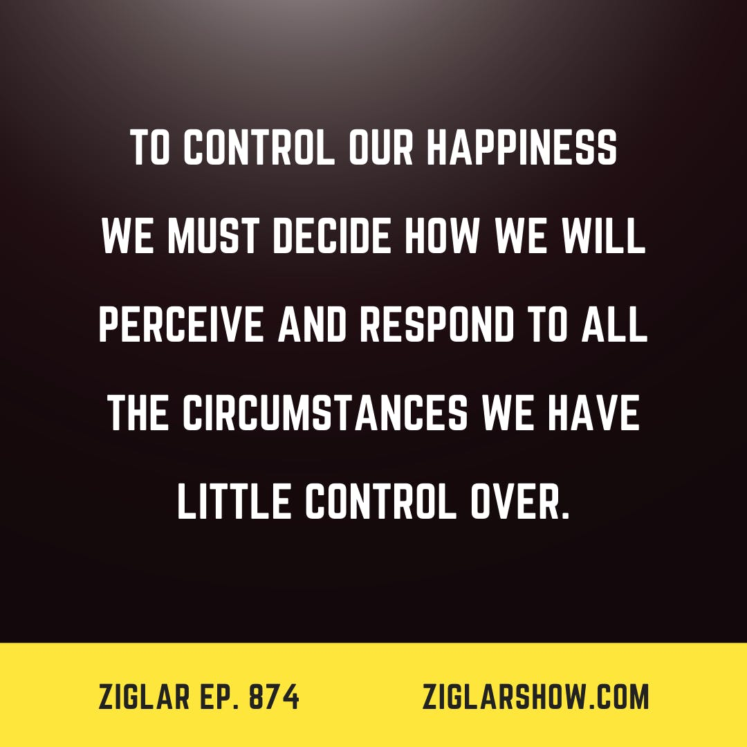 874: The Elusive Control Of Happiness