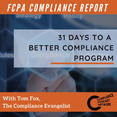 31 Days To A More Effective Compliance Program Envisioning Your Compliance Training Program Compliance Reportcompliance Report