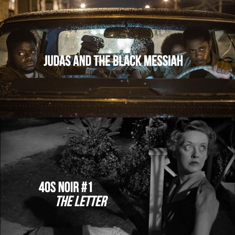 #813: Judas and the Black Messiah / The Letter ('40s Noir #1)