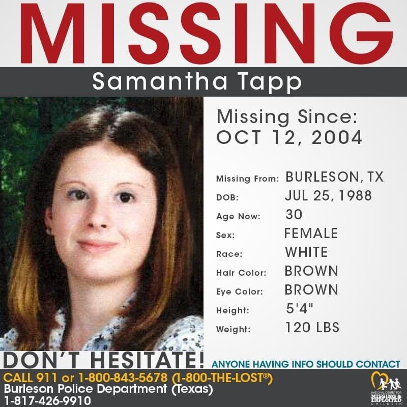 Missing Samantha Tapp - 2