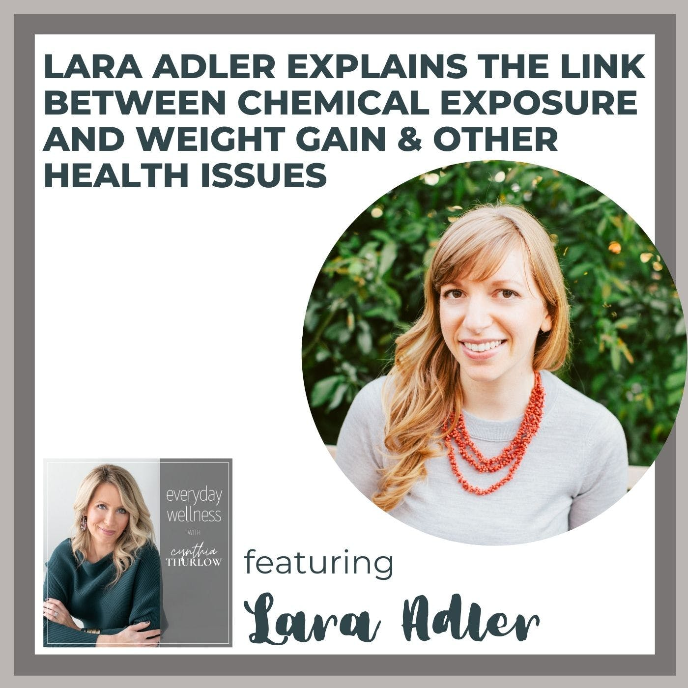 Ep. 159 Lara Adler Explains The Link Between Chemical Exposure And Weight Gain & Other Health Issues